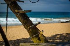 Scala fatta a mano sull'albero Fotografia Stock Libera da Diritti