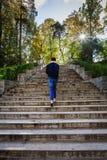 Scala le scale di pietra Immagini Stock
