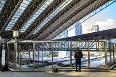 Scala mobile al JUNIOR Osaka Station Fotografie Stock