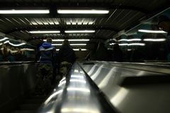 Scala mobile del sottopassaggio Immagine Stock Libera da Diritti