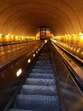 Scala mobile della metropolitana della stazione di Rosslyn in Washington DC Fotografia Stock Libera da Diritti