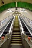Scala mobile di Warwick Avenue Station a Londra sotterranea Fotografie Stock