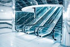 Scala mobile futuristica Fotografie Stock Libere da Diritti
