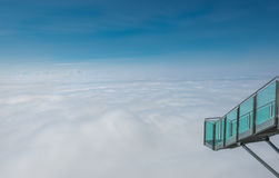 Scala a nulla al ghiacciaio della montagna di Dachstein, Steiermark, Austria Immagine Stock