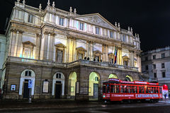 Scala opera house at night time Stock Photography
