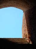Scala a Ostia Antica Fotografie Stock