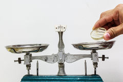 Scala per controllare il peso Fotografia Stock Libera da Diritti