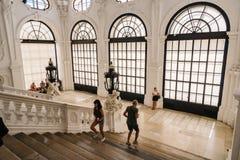Scala principale nel palazzo di belvedere a Vienna Fotografia Stock