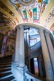 The SCALA REGIA, the principal staircase of Villa Farnese in Caprarola, Italy Stock Photography