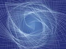 Scala a spirale blu Fotografia Stock Libera da Diritti