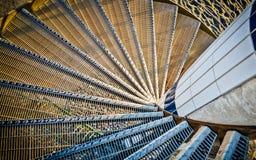 Scala a spirale moderna Immagini Stock