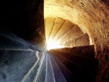 Scala a spirale in un castello scozzese Fotografia Stock