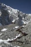 scala sulla montagna di Yulong Immagini Stock Libere da Diritti