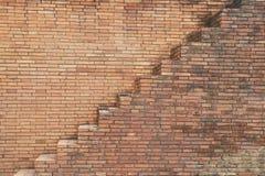Scala sulla parete del blocco Fotografia Stock Libera da Diritti