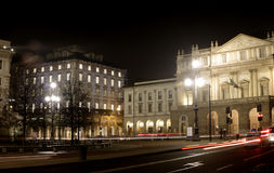 Scala Theater, Milan Italy. Teatro alla Scala in Milan, Italy. The theater is a well known opera and ballet house. The official website stock photo