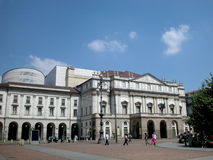 Scala theatre in Milan, Italy. World's famous theatre Scala in Milan, Italy Royalty Free Stock Photography
