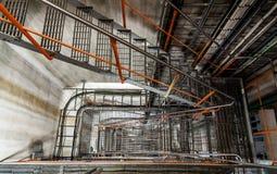 Scala in una centrale elettrica disarmata Fotografia Stock Libera da Diritti
