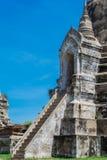 Scala Wat Phra Si Sanphet, Ayutthaya Tailandia Immagini Stock