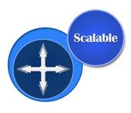 Scalable blåttcirklar vektor illustrationer