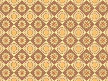 Scalable Indian Pattern. Scalable Indian Brown Coffee and Milk Rhombus Pattern royalty free illustration