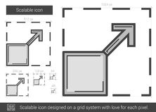 Scalable linje symbol stock illustrationer