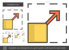 Scalable linje symbol vektor illustrationer
