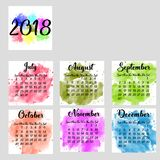 A scalable vector calendar for the year 2018. Each of the twelve months.part2 stock illustration
