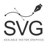 Scalable Vector Graphics formatsvg Svars- design royaltyfri illustrationer