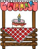 Birthday cake wooden stand for sale Royalty Free Stock Images