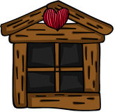 Small wooden window. Scalable vectorial image representing a small wooden window, isolated on white vector illustration