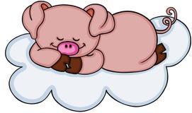 Cute pig sleeping Royalty Free Stock Images