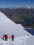Scalata alpina Fotografie Stock
