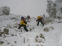 Scalata alpina Fotografie Stock Libere da Diritti
