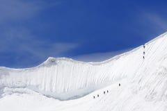 Scalata alpina Fotografia Stock