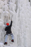 Scalata del ghiaccio Immagine Stock