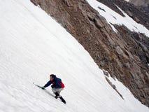 Scalata del ghiaccio - il Montana fotografia stock