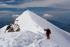 Scalata di montagna immagini stock