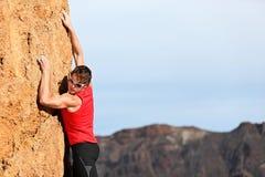 Scalata dello scalatore Fotografia Stock Libera da Diritti