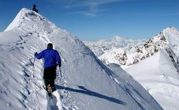 Scalata di montagna Fotografia Stock