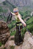 Scalata di montagna Immagini Stock Libere da Diritti