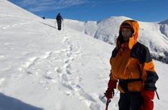 Scalata di montagna estrema Fotografia Stock