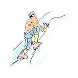 Scalata di montagna estrema royalty illustrazione gratis