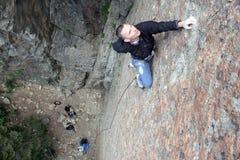 Scalata di roccia   Fotografia Stock