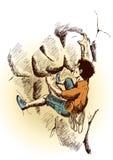 Scalata di roccia illustrazione vettoriale