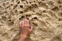 Scalata di roccia Fotografie Stock