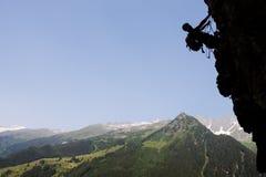 Scalata di roccia di estate Immagine Stock