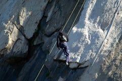 Scalata di roccia nella California del sud Fotografie Stock Libere da Diritti