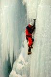 Scalata verticale del ghiaccio Fotografia Stock Libera da Diritti