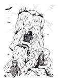 Scalatore ambizioso di Mountan (2008) Immagini Stock Libere da Diritti