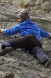 Scalatore della montagna Fotografie Stock